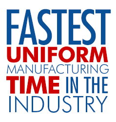 Fastest Uniform Manufacturing Time in the Industry