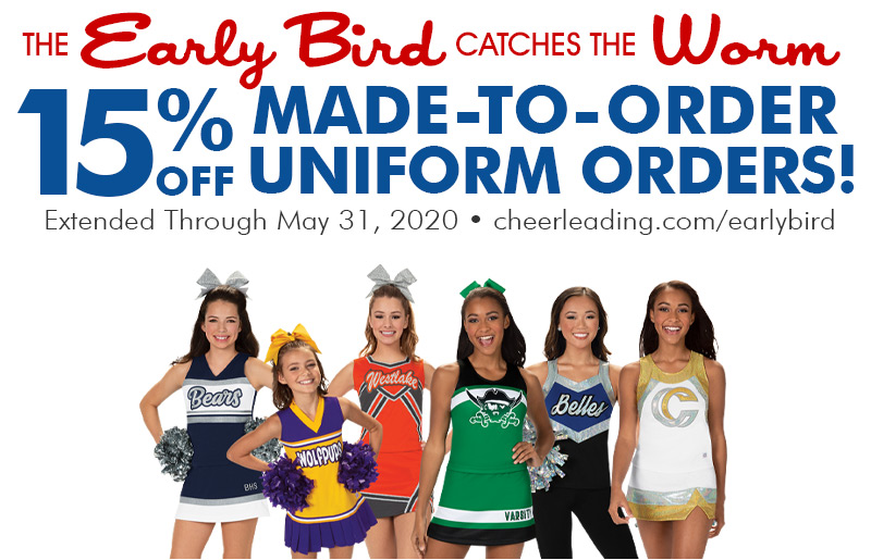 15% Off Made-To-Order Uniforms Now thru May 31, 2020