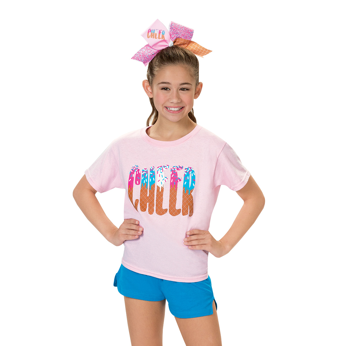 Light Pink Ice Cream Cheer T Shirt