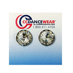 Rhinestone Earrings - Pierced Stud
