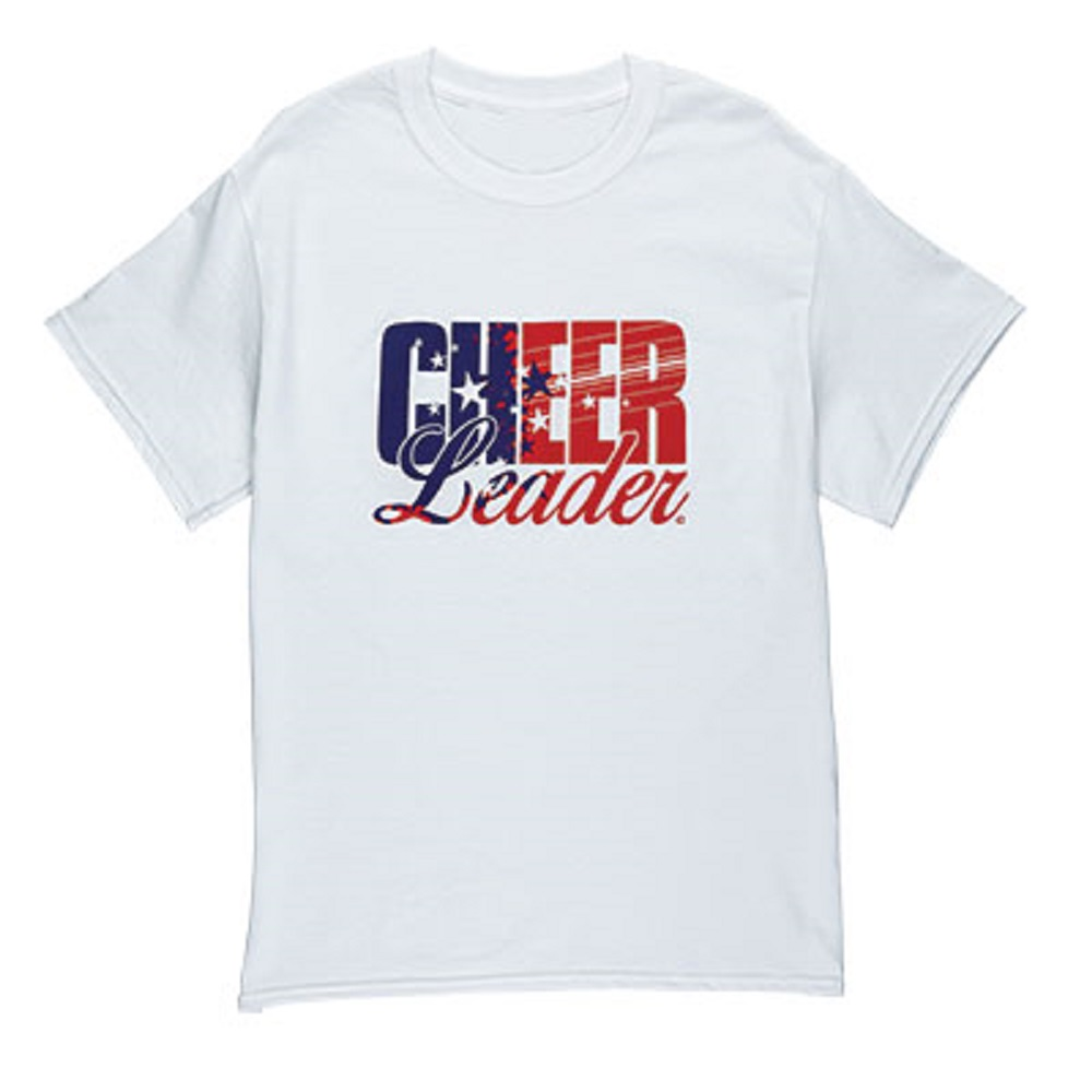 Star spangled cheer t shirt Cheerleading t shirt designs