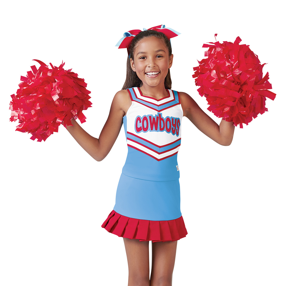 Color Baton Handle Cheerleading Pom