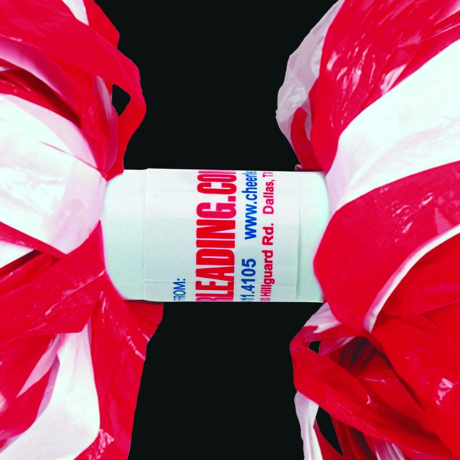 6 In Stock Plastic 3 Color Baton Handle Cheerleading Pom