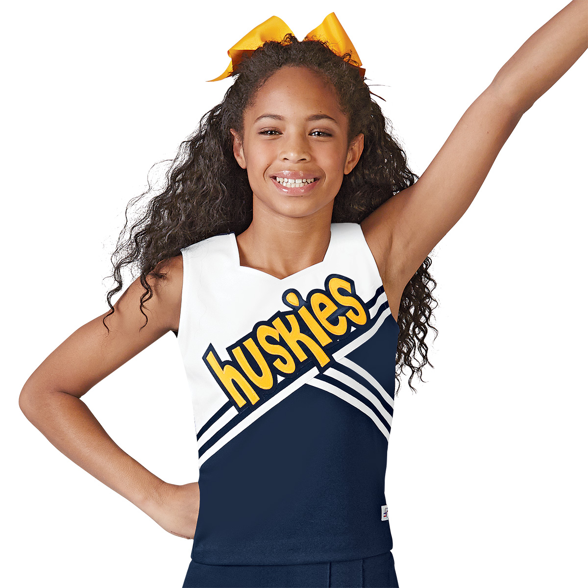 Double Knit Sweetheart Cheer Uniform Shell Top