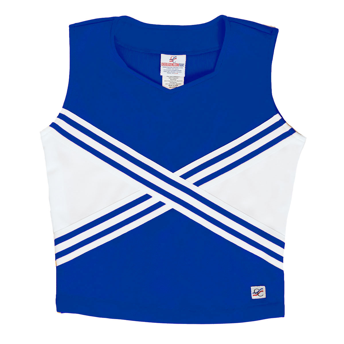 Stock Sweetheart Neck Cheer Uniform Shell with Criss Cross Design