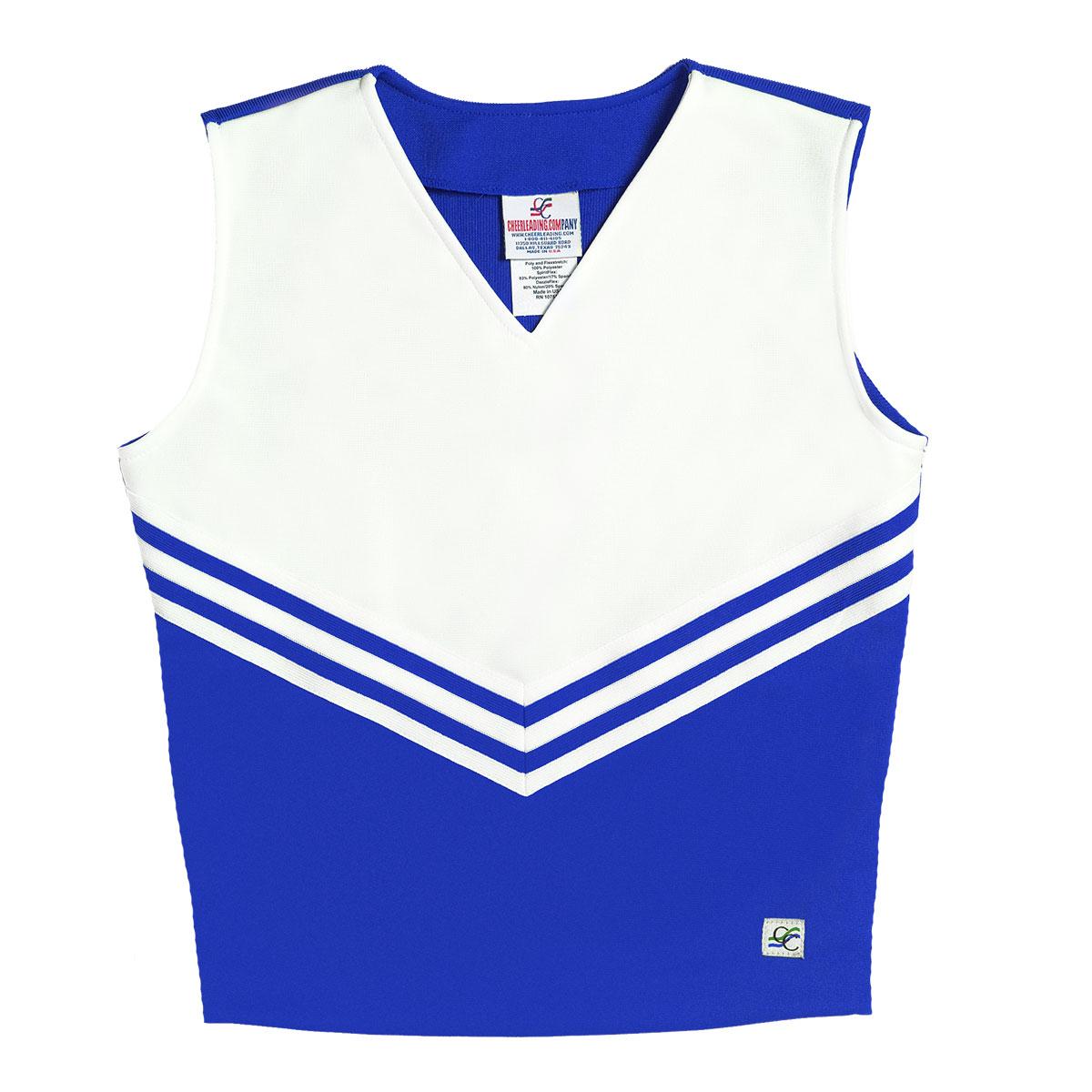 ad0231d0d3e Stock V- Neck Classic Cheer Uniform Shell Top