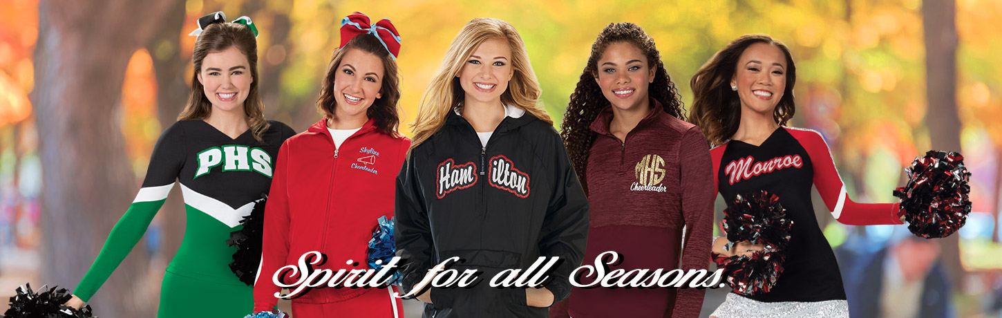 Cheerleading.com Spirit Savings Day Sale - Free Shipping and 20% off. Custom Cheer Uniforms, CC Fusion Sublimated Cheerleading Uniforms, Bow To Tow Complete Uniform Packages, Jersey Dresses, and Competition Uniforms at discount prices. All the Cheer Accessories too. Order Our Catalog Today