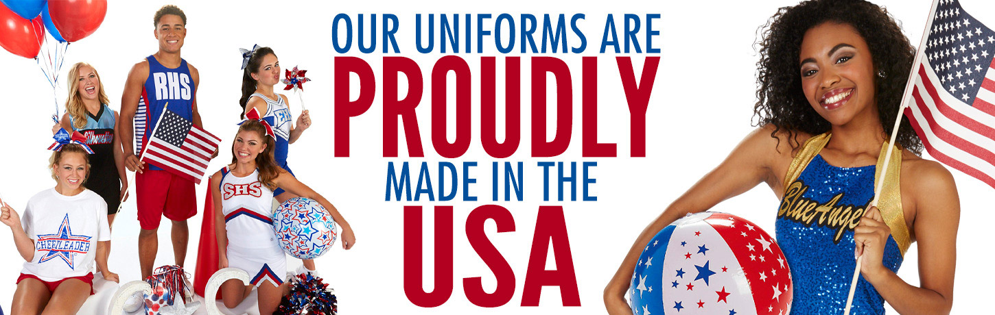Cheerleading.com has Custom Cheer Uniforms, CC Fusion Sublimated Cheerleading Uniforms, Bow To Tow Complete Uniform Packages, Jersey Dresses, and Competition Uniforms at discount prices. All the Cheer Accessories too. Order Our Catalog Today