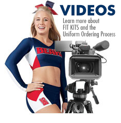 Cheerleading Company Uniform Ordering Process, Fit Kits, Product Videos