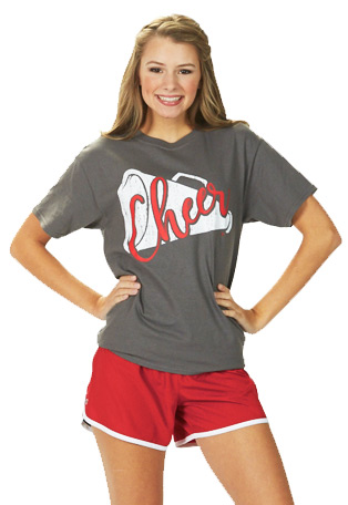 Cheerleader Campwear, Accessories and Cheer Gear - Poms, Shoes, Shirts, Soffe Shorts, Bags, Megaphones