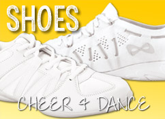 Cheer Shoes including Nfinity, Asics, Zephz, Kaepa and Fierce Feats