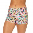 Mid-Rise Elastic Waist Hot Shorts - Multi-Color Chevron
