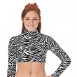 In-Stock Zebra Half-Top