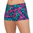 Mid-Rise Neon Tie Dye Hot Shorts