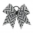 "3"" Black and White Zig Zig Chevron Bow"