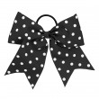 Large Short Tailed Polka Dot Bow