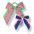 Large Custom Three Layer Short Tail Bow with Printed Accent Ribbon