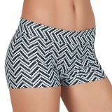 Mid-Rise Chevron Zig Zag Racer Hot Shorts