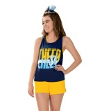 Navy Blue No Limit Boyfriend Cheer Tank
