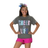 Charcoal Cheer is Life T-shirt
