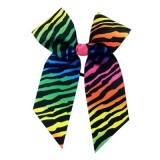 In Stock Rainbow Zebra Hair Bow