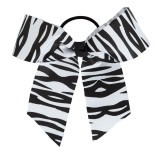 In Stock Large Zebra Print Grosgrain Ribbon Bow
