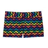 Rainbow Chevron Mid-Rise Smooth Waist Hot Shorts SpiritFlex