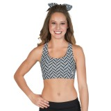 CC Spiritwear Zig-Zag Sports Bra with Racerback