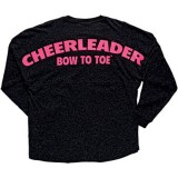 Hot Pink Imprinted Black Glitter Jersey
