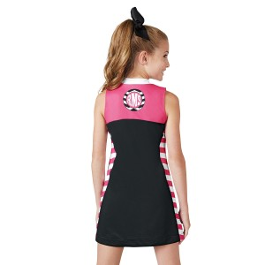 CC Fusion Madison Mesh Jersey Spirit Dress with Side Print Pattern