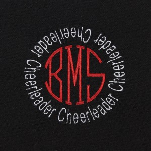 Two Color Monogram with Circle Initials (MILRSTCRNB)