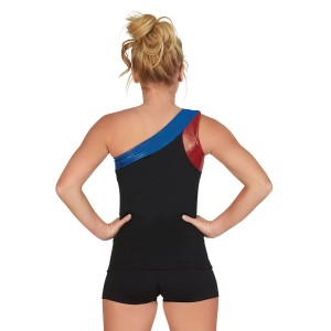 CC Dancewear Asymmetrical One Shoulder SpiritFlex Dance Top