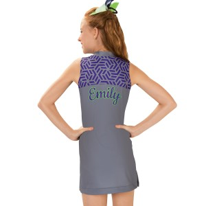 CC Fusion Emily Mesh Jersey Spirit Dress with Patterned Yoke