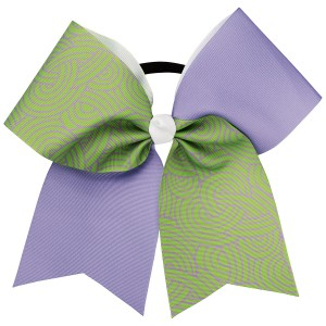 Lavender and Lime Green Swirl Flip Bow (HBCT286)