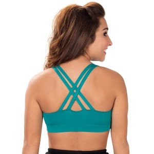 Specialty Fabric Double Criss-Cross Back Sports Bra