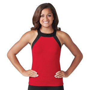 CC Dancewear Round Neck SpiritFlex Top with Criss-Cross Straps