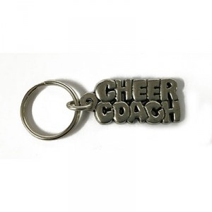 Pewter Cheer Coach Key Ring