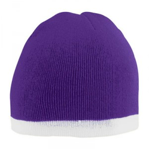 Two-Tone Knit Beanie Cap, Hat