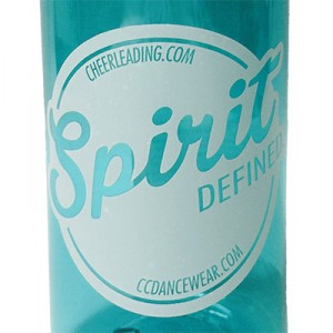 Sport Water Bottle with Spirit Defined Imprint - Clear Turquoise