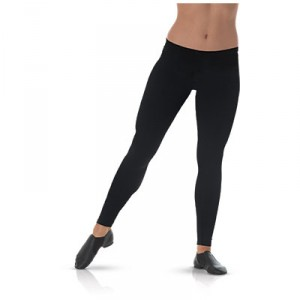 Mid-Rise Smooth Waist Black Leggings
