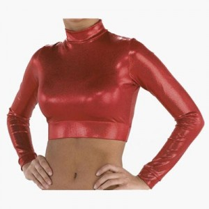 Pizzazz Performance Wear Metallic Half Top