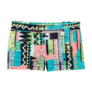 Mid-Rise Neon Different World Hot Shorts