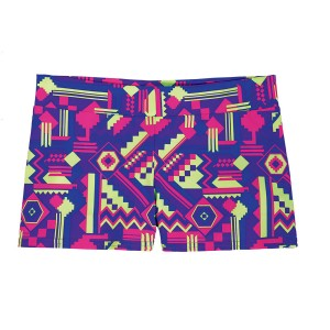SpiritFlex Mid-Rise Smooth Waist Hot Shorts-Santa Fe Purple