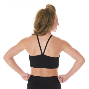 Specialty Fabric Sports Bra with V-Front and Back