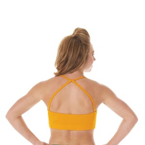 Specialty Fabric Keyhole Back Sports Bra