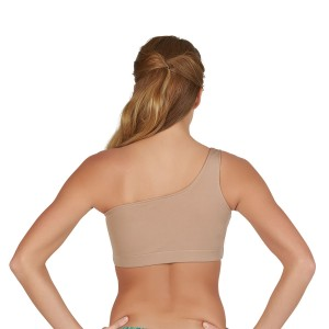 Specialty Fabric One-Shoulder Sports Bra