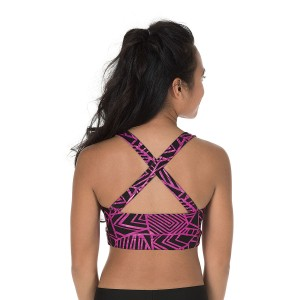 Specialty Fabric Criss-Cross Back Sports Bra
