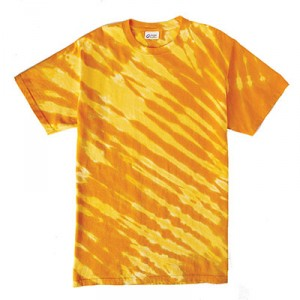 Tiger Striped Tie Dye Tee