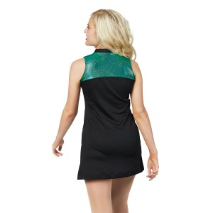 Sleeveless Mesh Jersey Dress