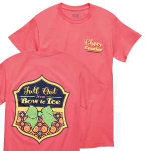 Cheer Full Out from Bow to Toe Coral T-shirt